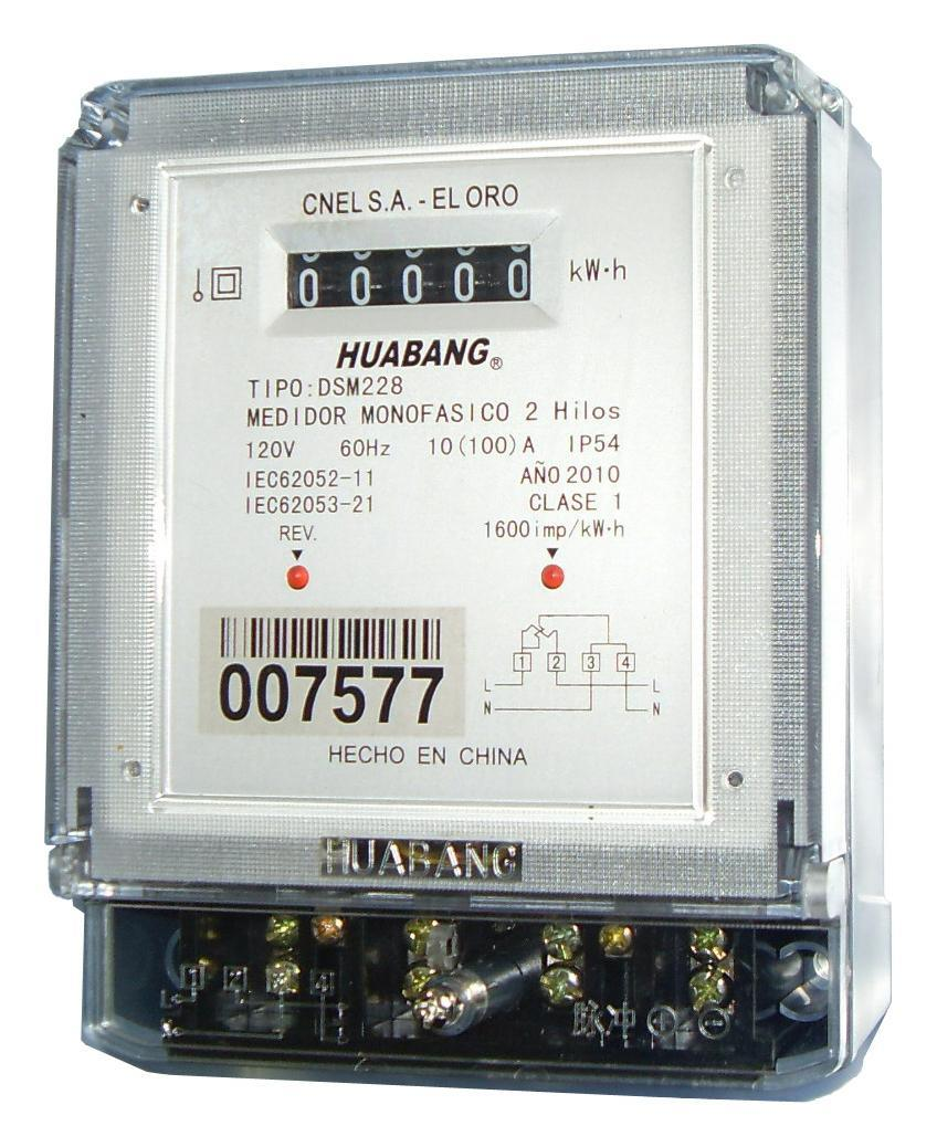 Single Phase Electric Power : China single phase electric energy meter power