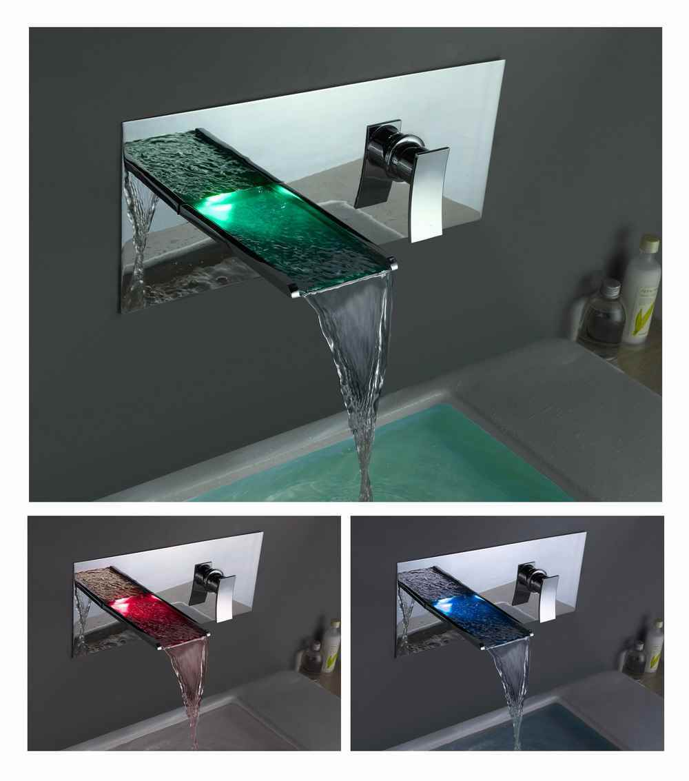 China Waterfall LED Faucet (LSW01) - China Faucet, Led Faucet