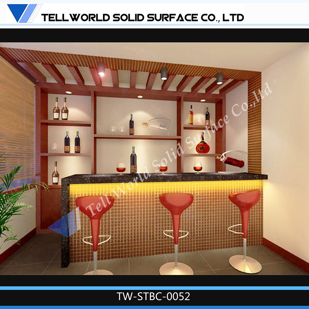 Small Bar Design Ideas Kitchen Modern Home Mini Counter: Hotel Mini LED Bar Counter Photos & Pictures