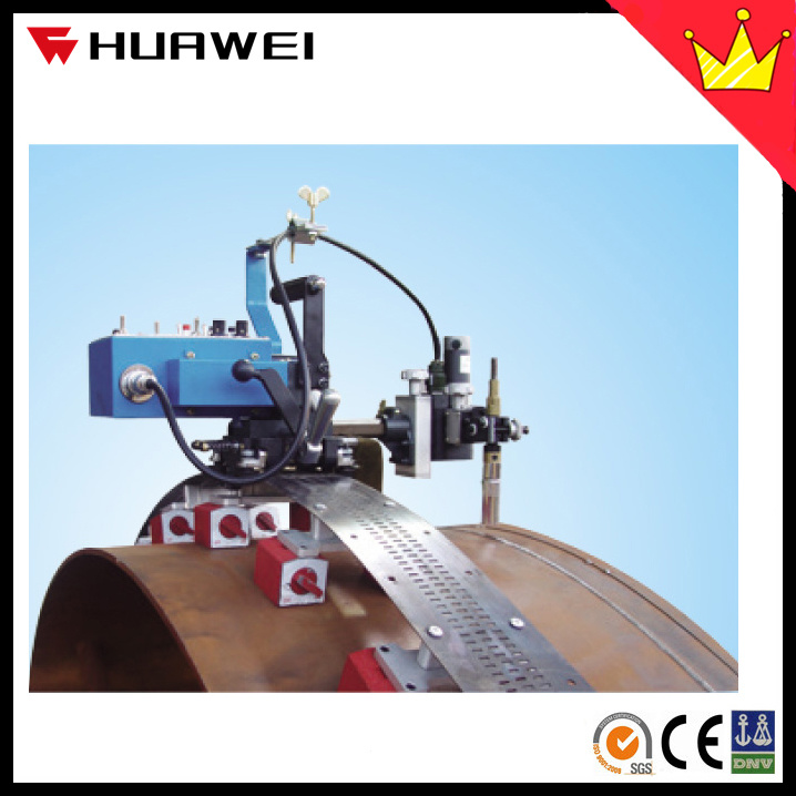HK-100s Flexible Rails Track Pipe Tank Welding Tractor with Oscillate Torch Holder
