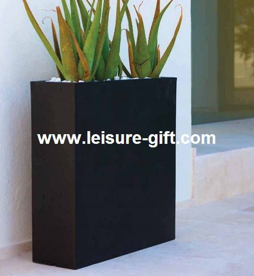rectangulaire ext rieure en fibre de verre de pot de fleur. Black Bedroom Furniture Sets. Home Design Ideas