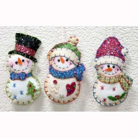 Christmas felt decoration on pinterest felt noel and natal for Christmas snowman decorations