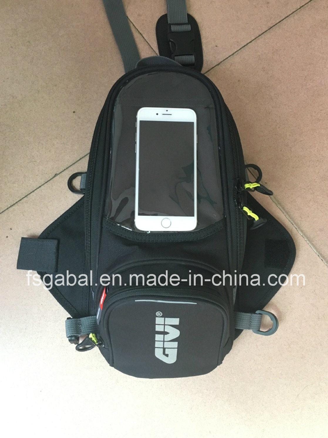 Givi Small Waterproof Magnetics Motorcyel Tank Bag with Rain Cover