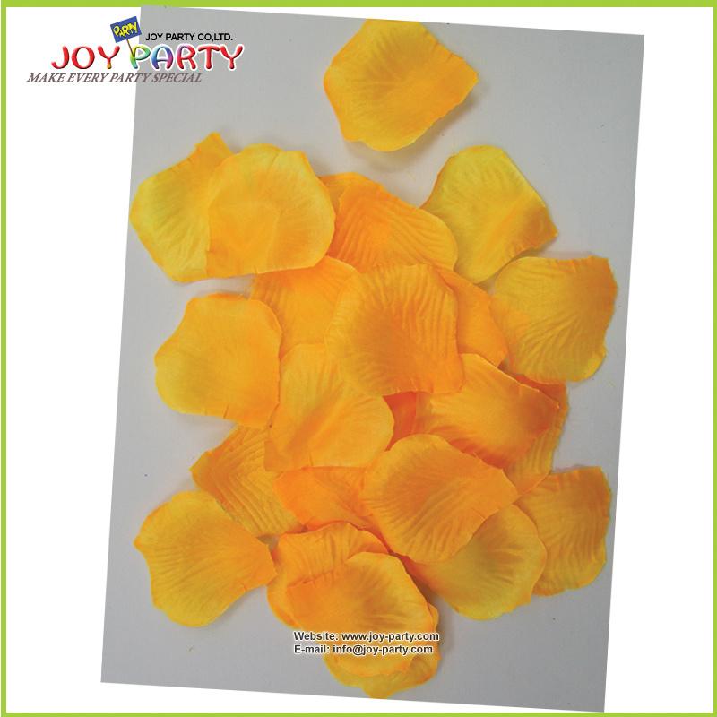 Orange Ariticial Polyester Rose Petal