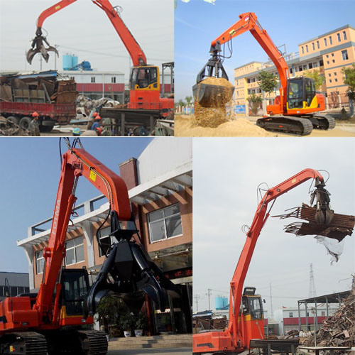 Swing Stone Gripper Crane Material Handling Equipment