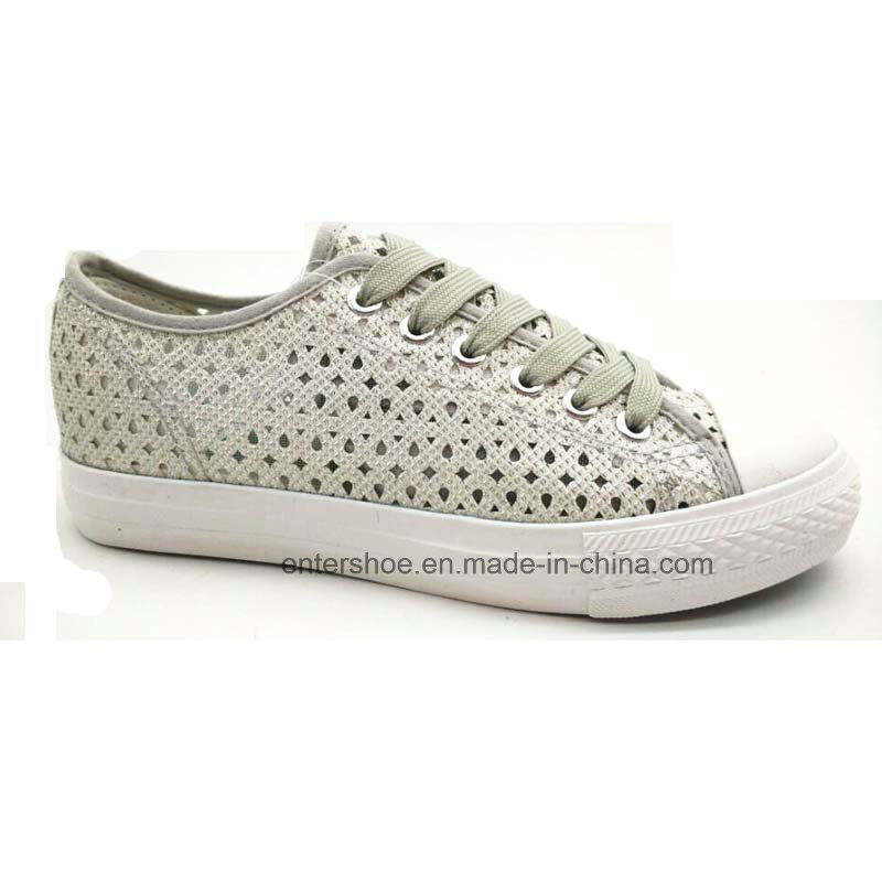 Vulcanized Slip on Women Shoes with Hollow (ET-YH160108W)