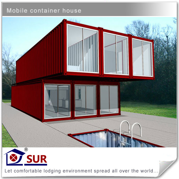 China 40ft Modified Shipping Container House With 2 Storey