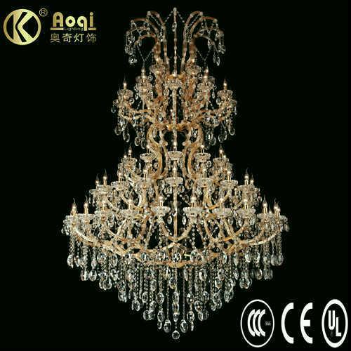 Newest Modern Design Luxury Crystal Chandelier Lamp (AQ50004-24+18+12+12+6)