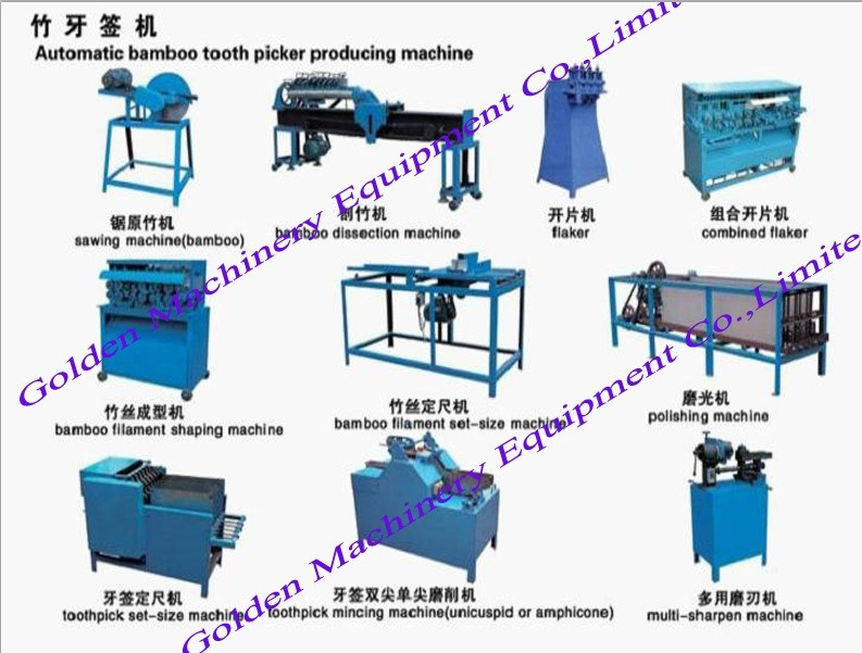 Factory Selling Production Line Chopsticks Making Bamboo Toothpick Machine