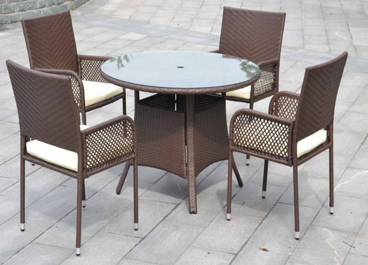 Rattan Outdoor Dining Set HB21 9126 China Wicker