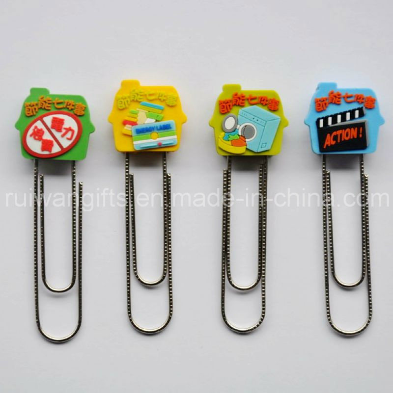 3D Soft PVC Bookclip for Stationery