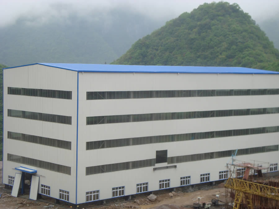 Steel Material Saving Steel Buildings with Brick Wall