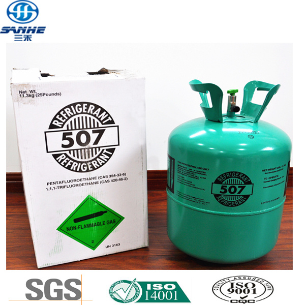 Disposable Cylinder Freon Refrigerant Gas R507 for Distributor