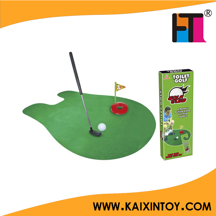 Novelty Mini Golf Toy Toilet Golf