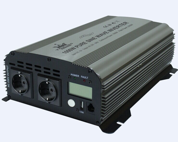 600W Pure Sine Wave Power Inverter DC12V/24V AC220V/230V