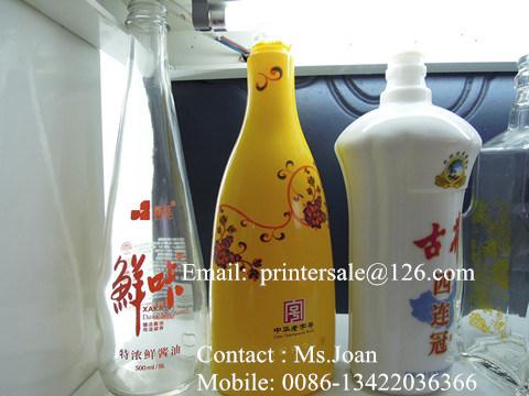Glass Bottle Screen Printer with LED UV