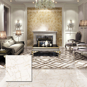 60X60cm Super Glossy Porcelain Polished Copy Marble Glazed Ceramic Floor Tile (VRP6104)