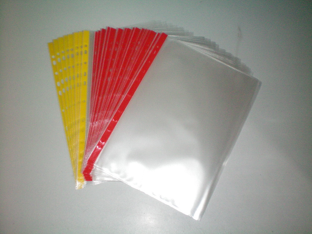 A4 High Quality Transparent 11 Hole PP Sheet Protector