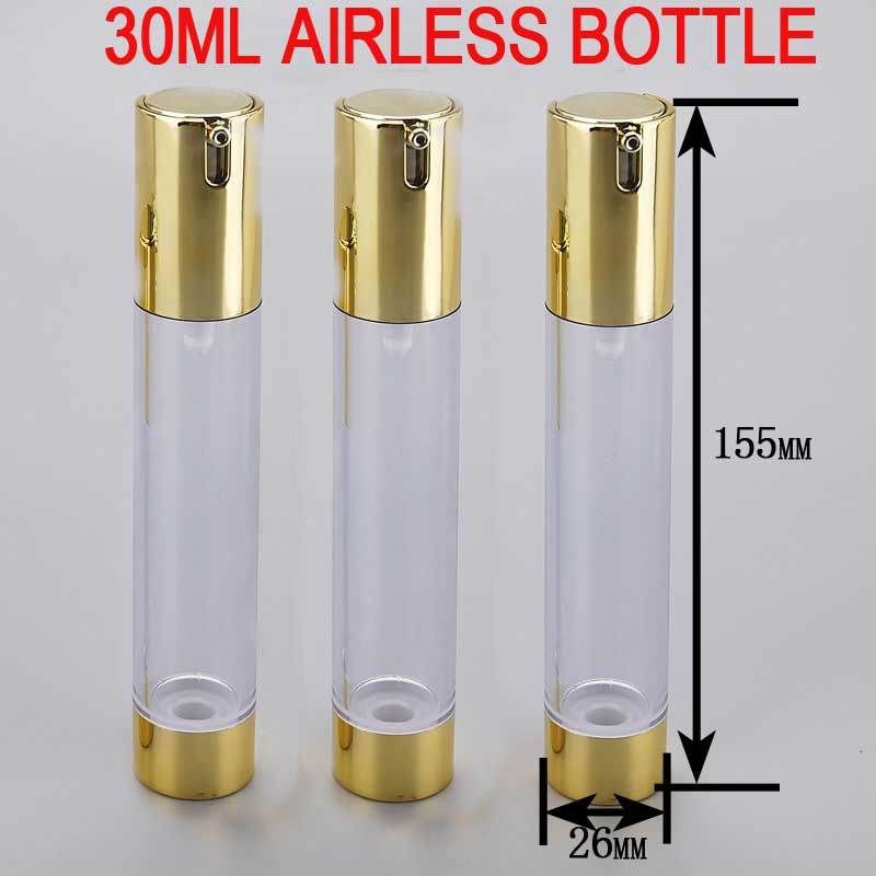 30ml Golden Skin Serum/Toner Cosmetic Plastic Airless Bottle
