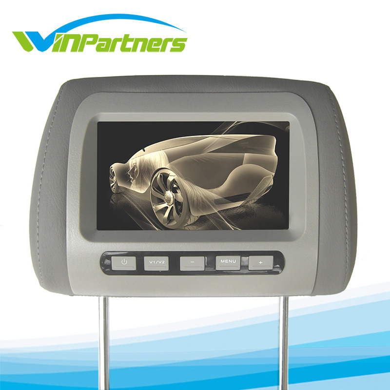 Auto Monitor 7 Inch LCD Digital Screen Car Headrest Monitor Adjustable Distance 105 -230mm