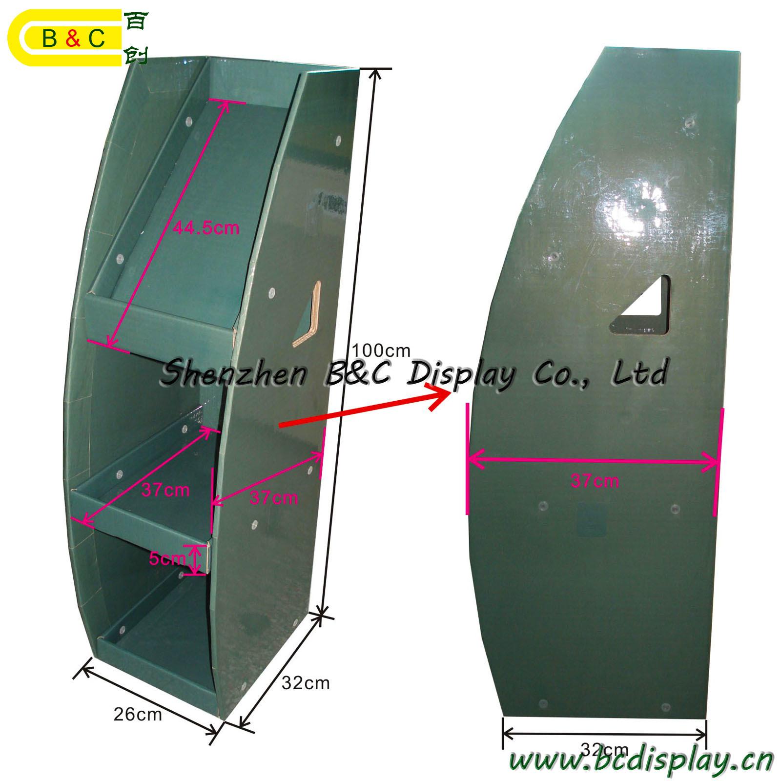 Bookrack Bookshelf Bookcase Dumpbin / Cardboard Dump Bin Display Stand (B&C-A035)