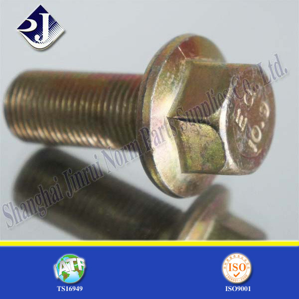 Yellow Zinc Plated Automobile Flange Bolt (IFI-111)