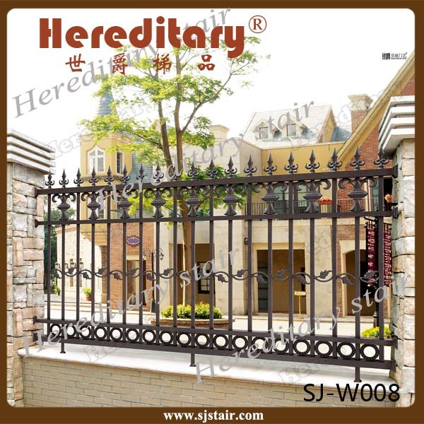 Rome Style Security Aluminum Outdor Cast Aluminum Metal Fence for Garden