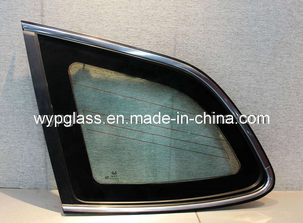 Auto rear door tempered glass china rear door glass for Glass back door