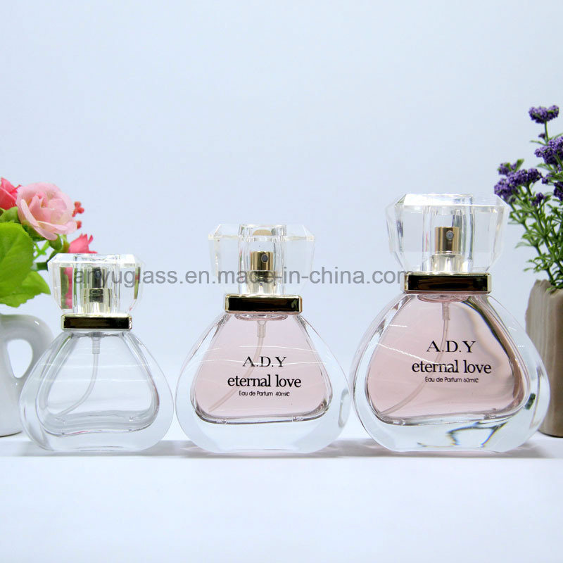 High-End Crystal Polish Perfume Glass Bottles with Crystal Cap, Fragrance Spray Glass Bottles