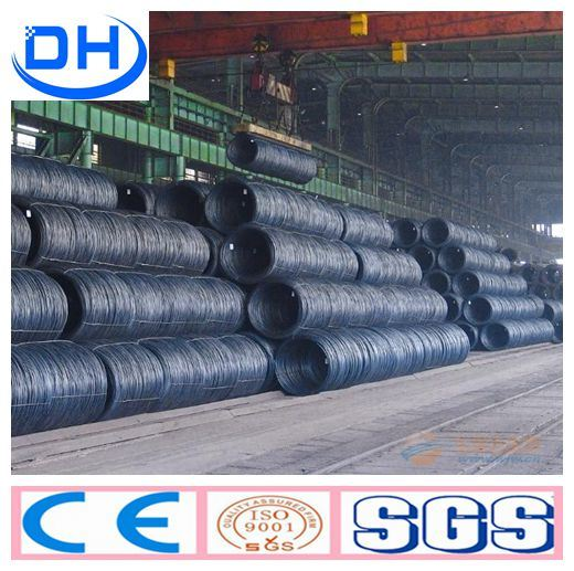 SAE1008 6.5mm 8mm 10mm Non-Alloy Steel Wire Rod From China