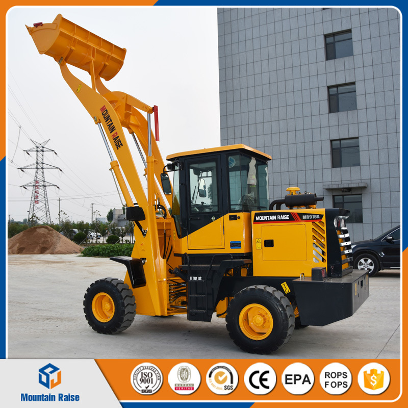 Long Arm 1.2ton Mini Wheel Loader with Various Attachments