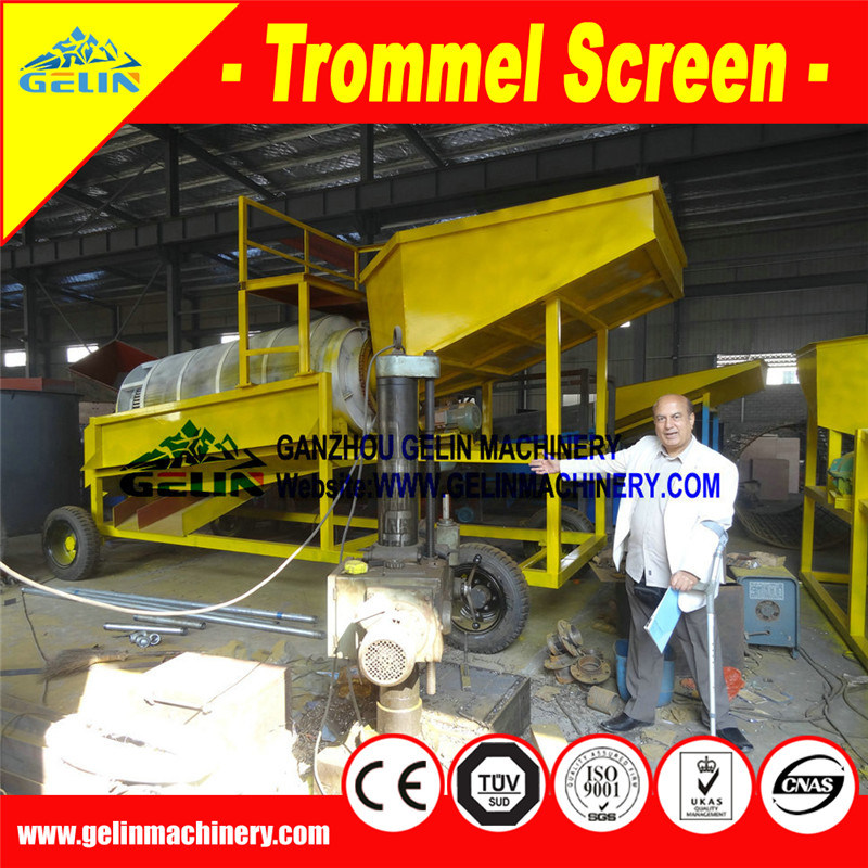 Alluvial Gold Mining Equipment, Large Mobile Gold Mining Machine