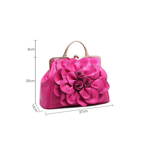 Handbags with Flower on Front of Handbag
