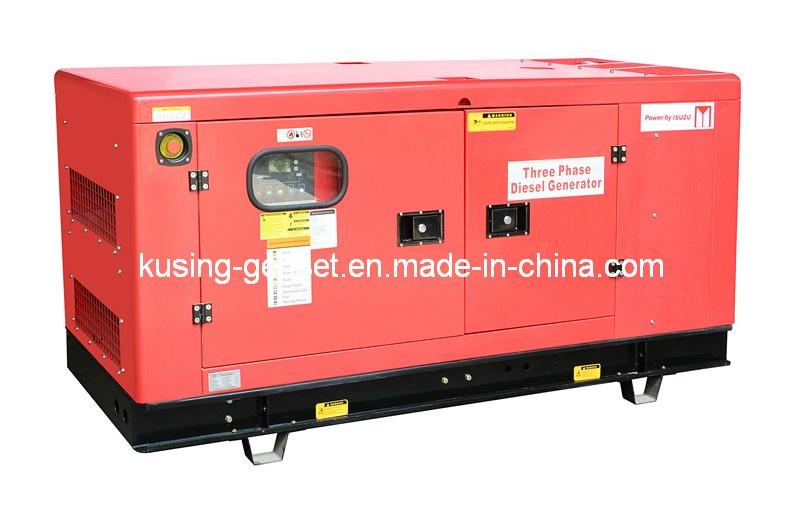 25kVA-37.5kVA Power Diesel Soundproof Generator with Isuzu Engine