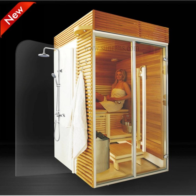 new design outdoor sauna steam room sauna shower combination sr1k003 - Home Steam Room Design