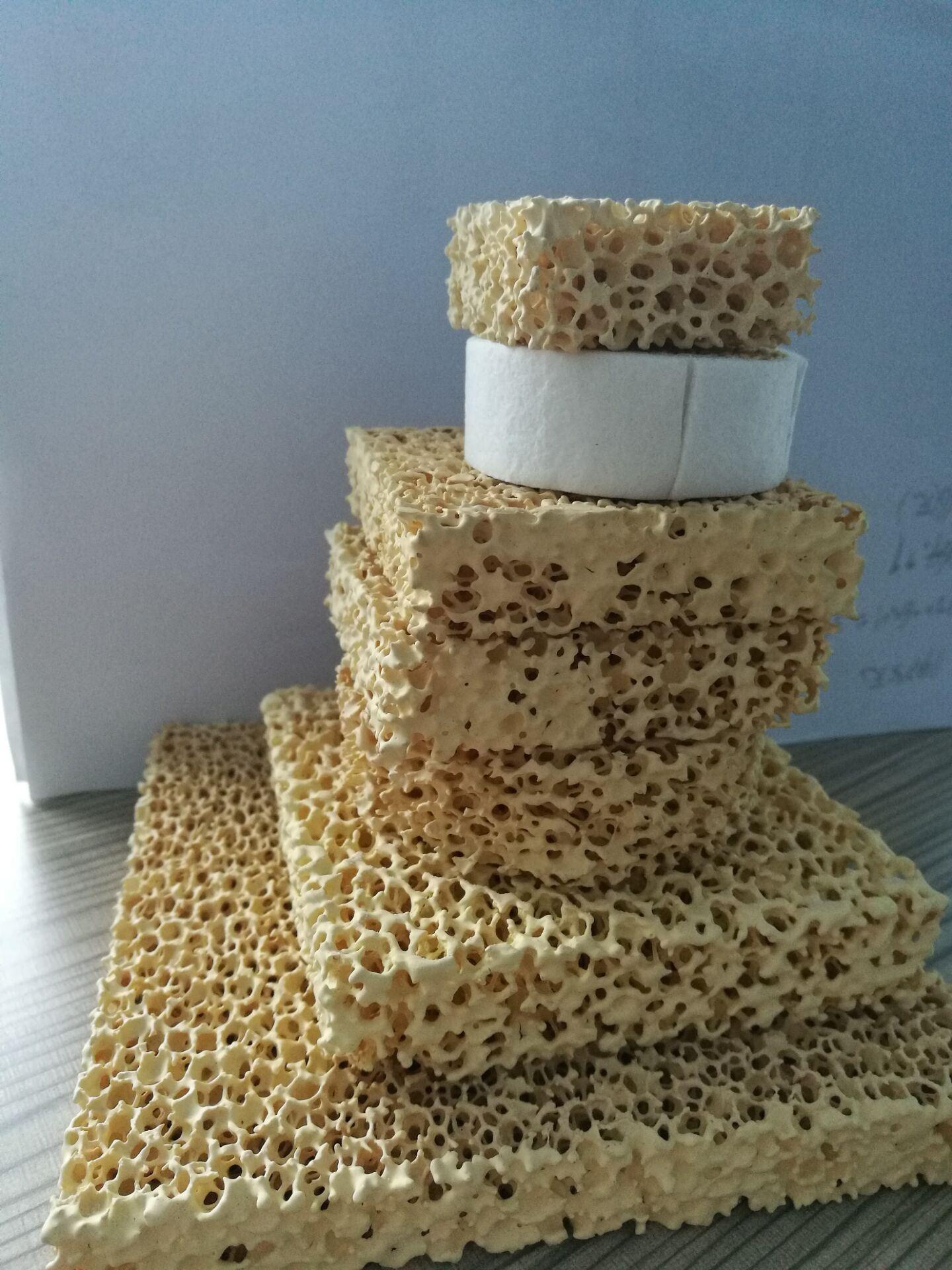 Sic/Alumina/Zirconia Porous Ceramic Foam Filters for Iron Casting