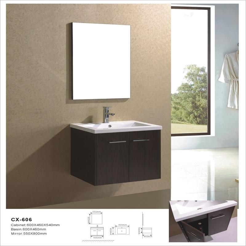 Melamine Furniture Wall-Mounted MDF Bathroom Vanity