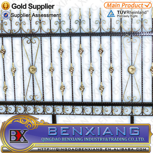 Decorative Residential Wrought Iron Fencing