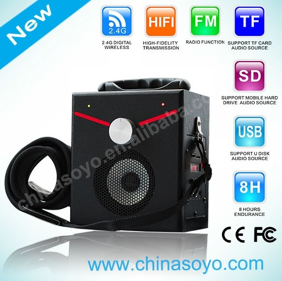 Multimedia Bluetooth Portable FM SD TF USB Speaker