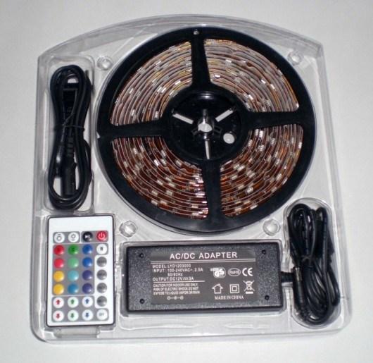 China SMD5050 RGB Flex LED Strip Light Kit Set DIY Color Remote Control CE