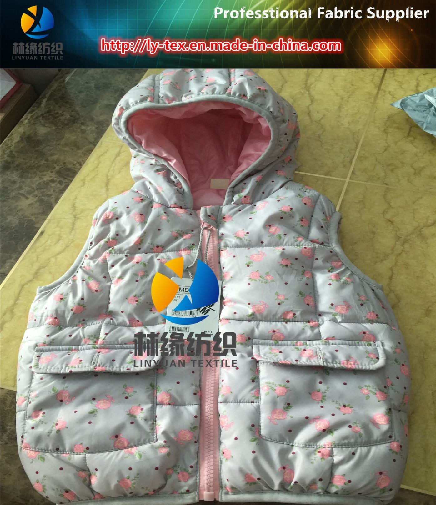 50d/72f Polyester Full Dull Taffeta with Transfer Printing for Jacket, Polyester Printed Woven Textile Fabric