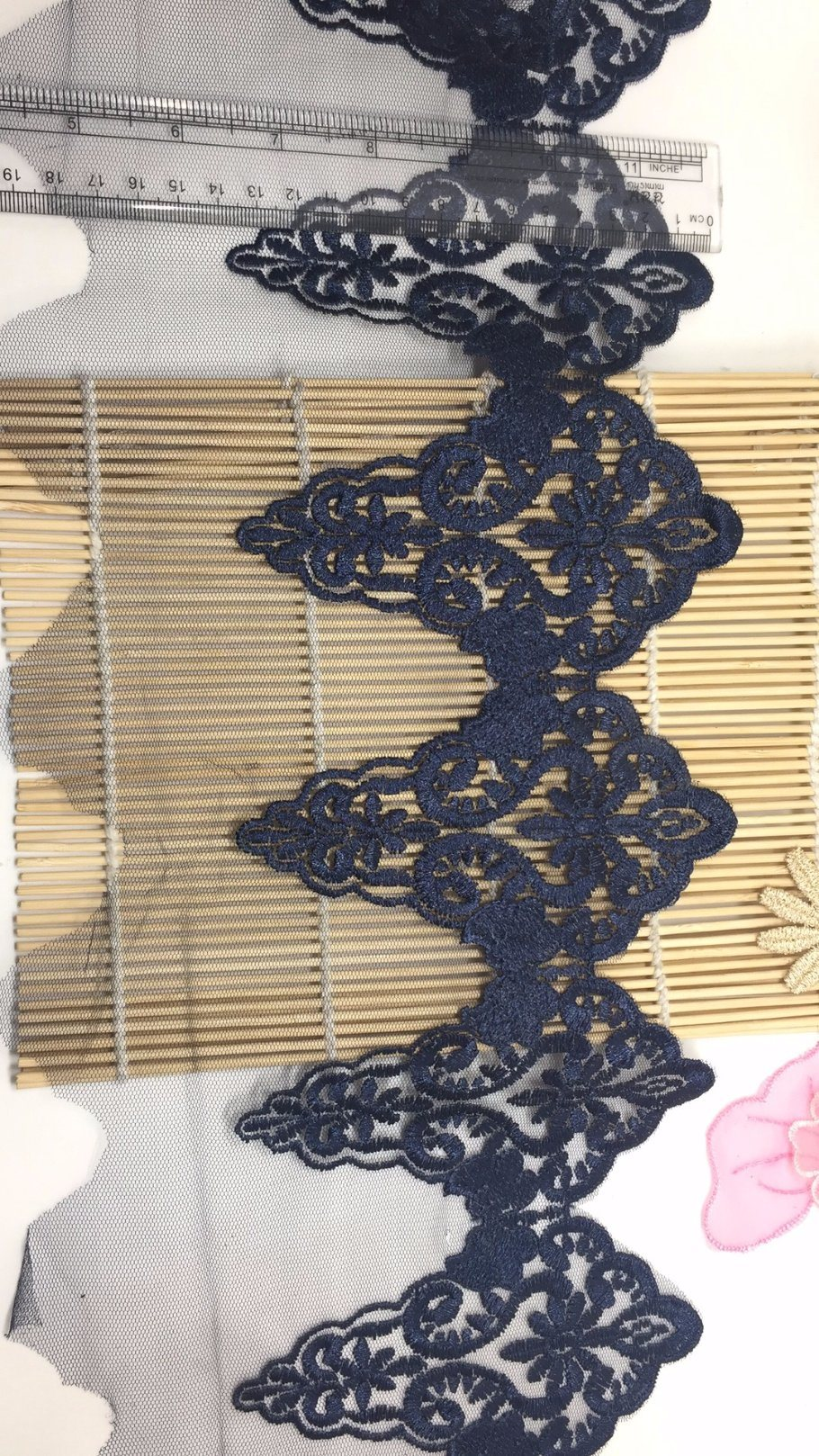 New Arrival 20cm Width Embroidery Trimming Net Lace for Garments & Home Textiles & Curtains Factory Stock Big Sale
