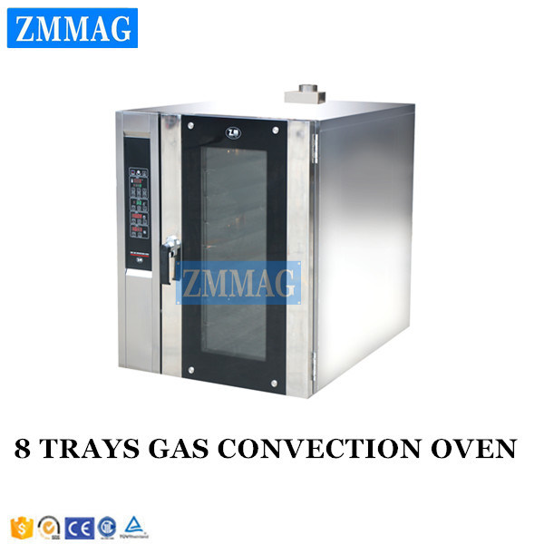 Fan Forced Gas Powered Hot Air Convection Oven with Steam 220V (ZMR-8M)