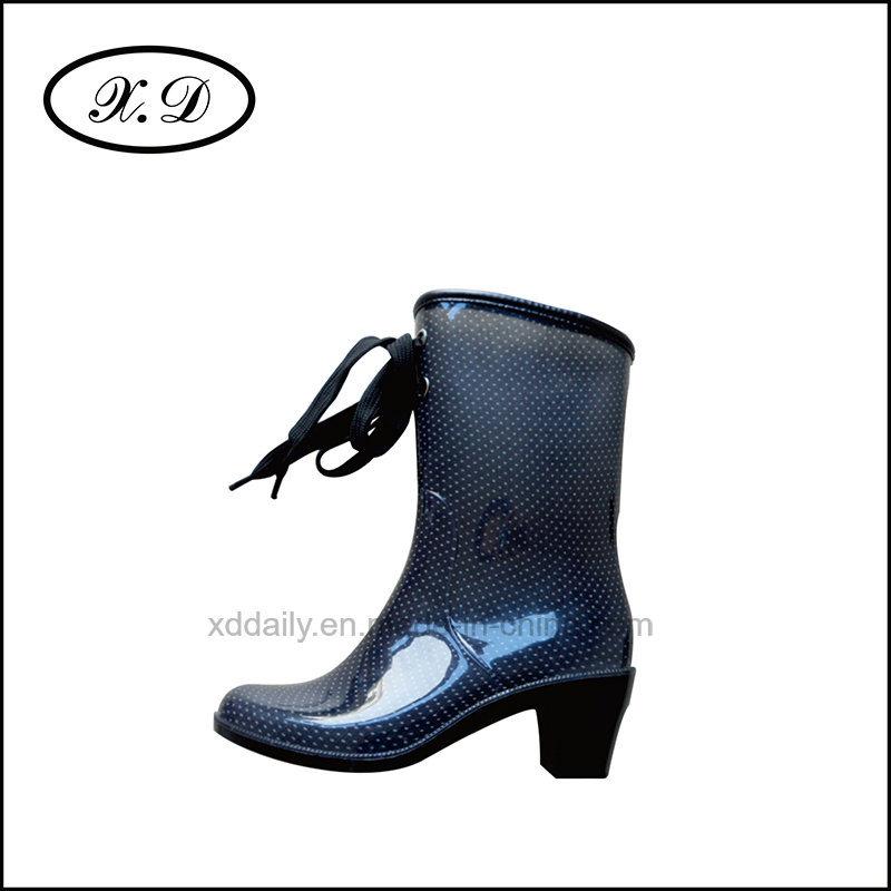 Ladies Fashion Rain Boots with PVC