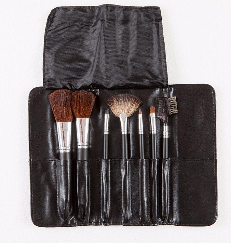 7PCS/Set Wool Hair Makeup Cosmetic Make up Brush Set