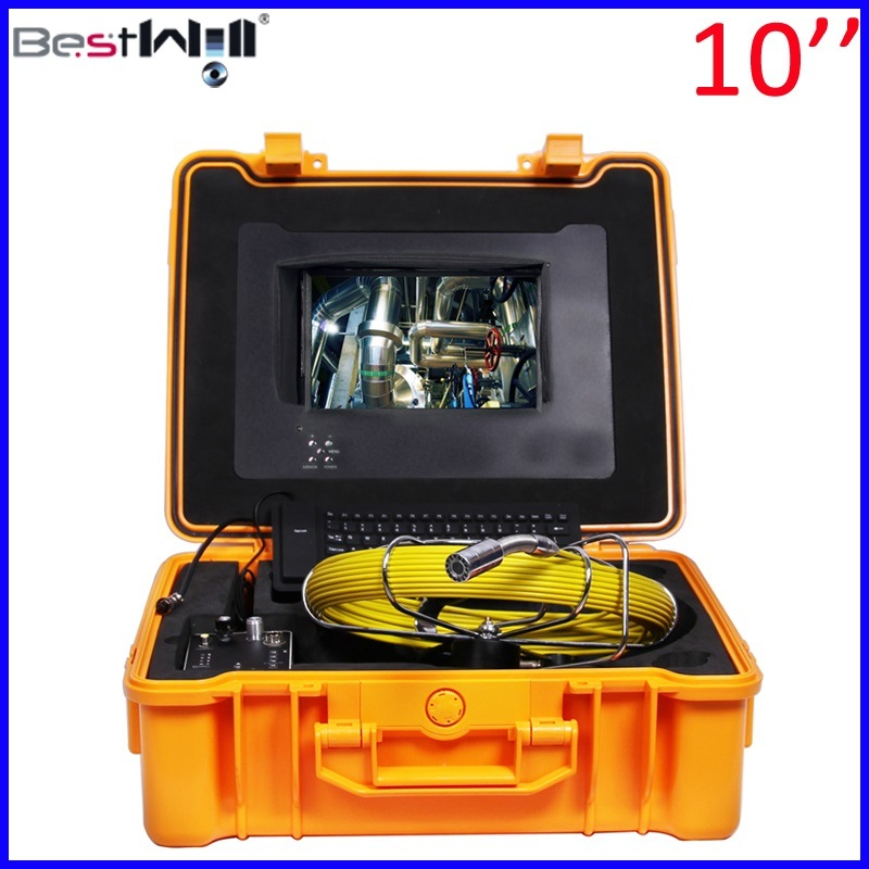 Pipe Inspection Camera with 10′′ Digital Screen Fiberglass Cable 10G