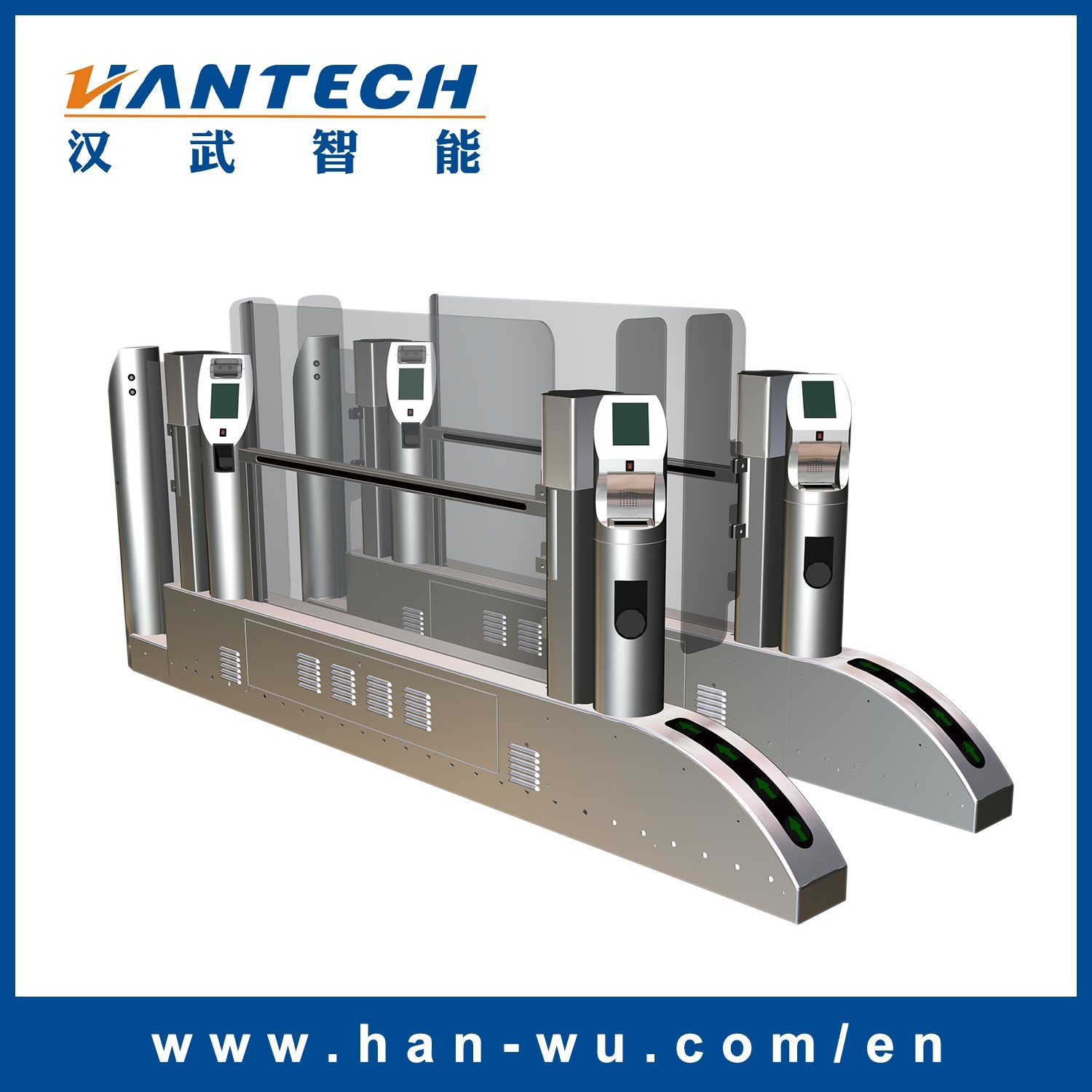 Automatic Boarding Gate with Barcode Scanning/Face Recognition