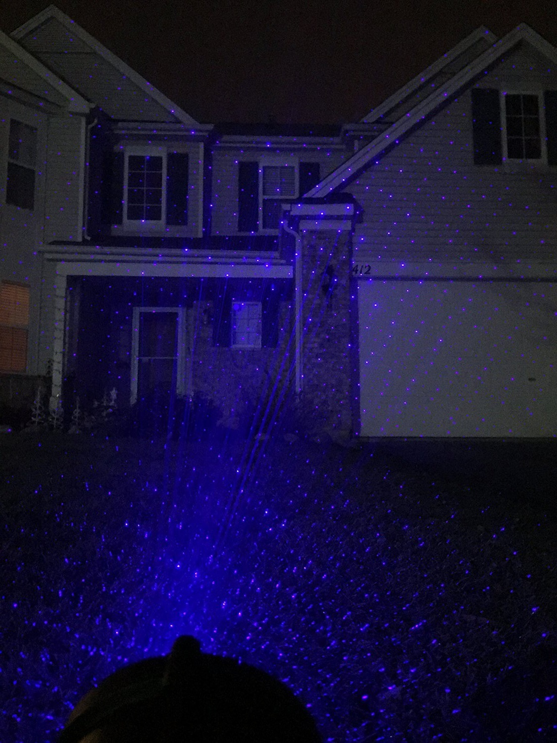 Christmas Ligths Outdoor for New Year Decorations, Single Blue Static Garden Lights Projector