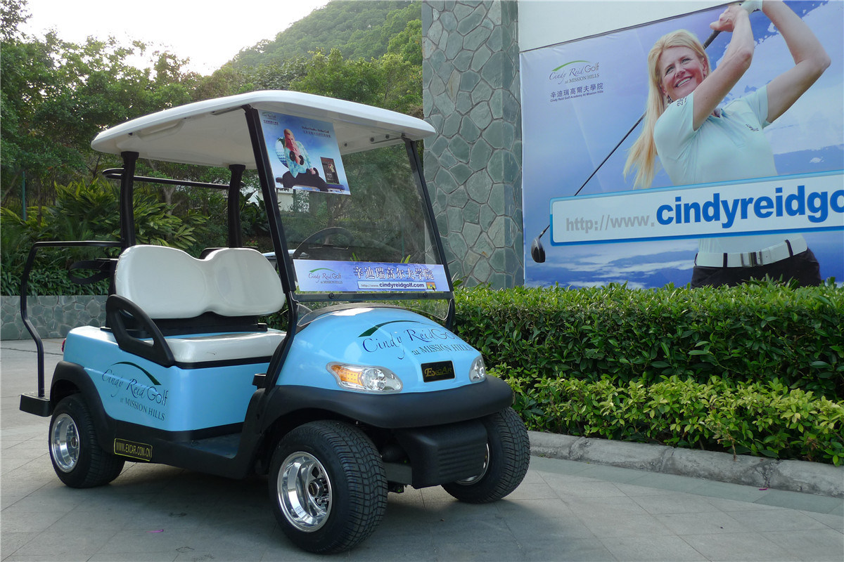 Aluminium Chassis 2 Seater Electric Golf Buggy for Golf Course