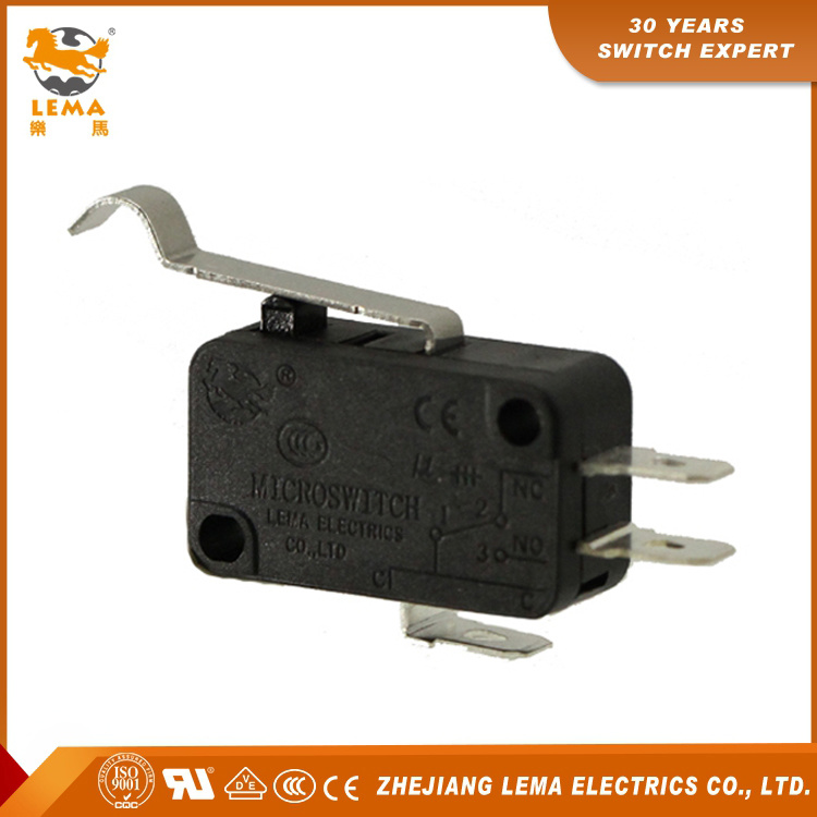 Factory Supply Lema Kw7-5 Bent Lever Sensitive Electric Micro Switch